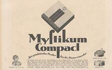 Y4199 MYSTIKUM Compact - Parfumerie Scherk - Pubblicità d'epoca - 1925 Old ad