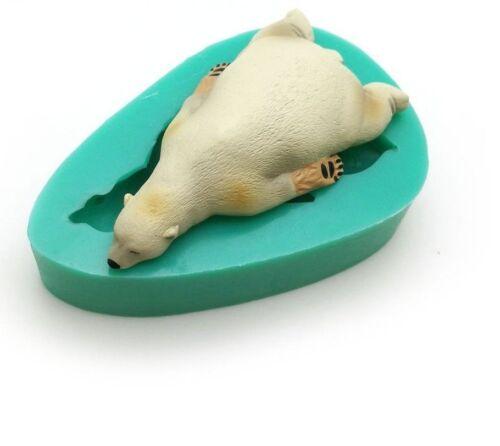 Sleeping Polar Bear Sea Lion Silicone Fondant Chocolate Sugarcraft Cake Mold DIY