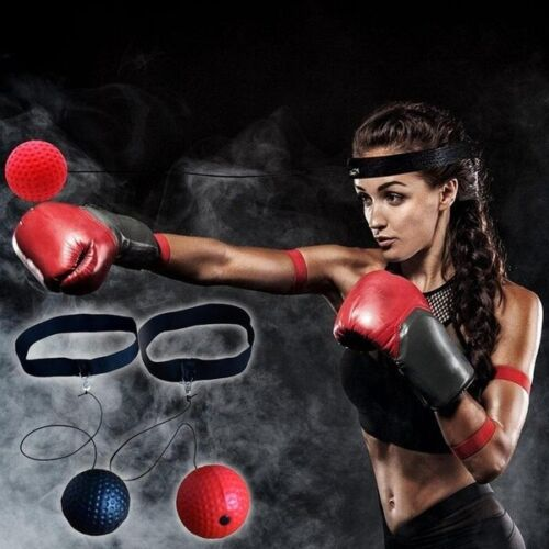UK Boxing Punch Exercise Fight Ball Head Band Reflex Speed Training Speedball