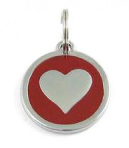 5 Stück Halsbandanhänger Herz rot #21 Schmuck Anhänger Halsband Hund Katze Heart