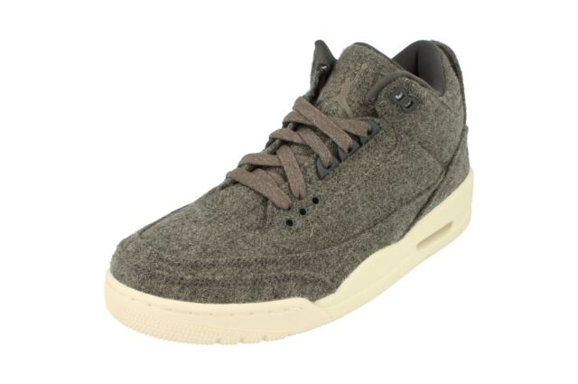 reputable site 773ed f5db4 Nike Air Jordan 3 Retro Wool Mens Hi Top Trainers 854263 Sneakers Shoes 004