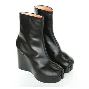 discount pick a best pre order for sale Maison Margiela Leather Wedge Boots 0nGaNS6e