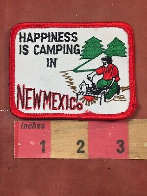 Happy Camper Patch HAPPINESS IS CAMPING IN GEORGIA Great Outdoors 00X3