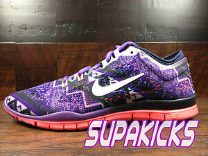 huge selection of 46bc9 f8ed5 Details about NIKE FREE 5.0 TR FIT 4 Womens (Obsidian / Ivory / Grape)  Crossfit [629832-402]