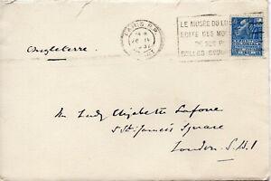 1931-France-Cover-with-Slogan-Cancel-to-London-addressed-Lady-Elizabeth-Lafone