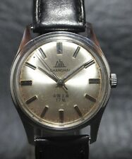 VINTAGE ORIGINAL SHANGHAI 17JEWELS HANDAUFZUG STAINLESS STEEL