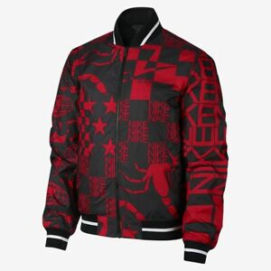 Details about Nike Sportkleidung Bedruckt Jacke Herren Rot Schwarz Sportbekleidung