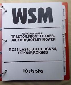 2005 kubota bx24 tractor la240 front loader bt601 backhoe rh ebay com BX24 Kubota Service Manual Kubota BX24 Specs