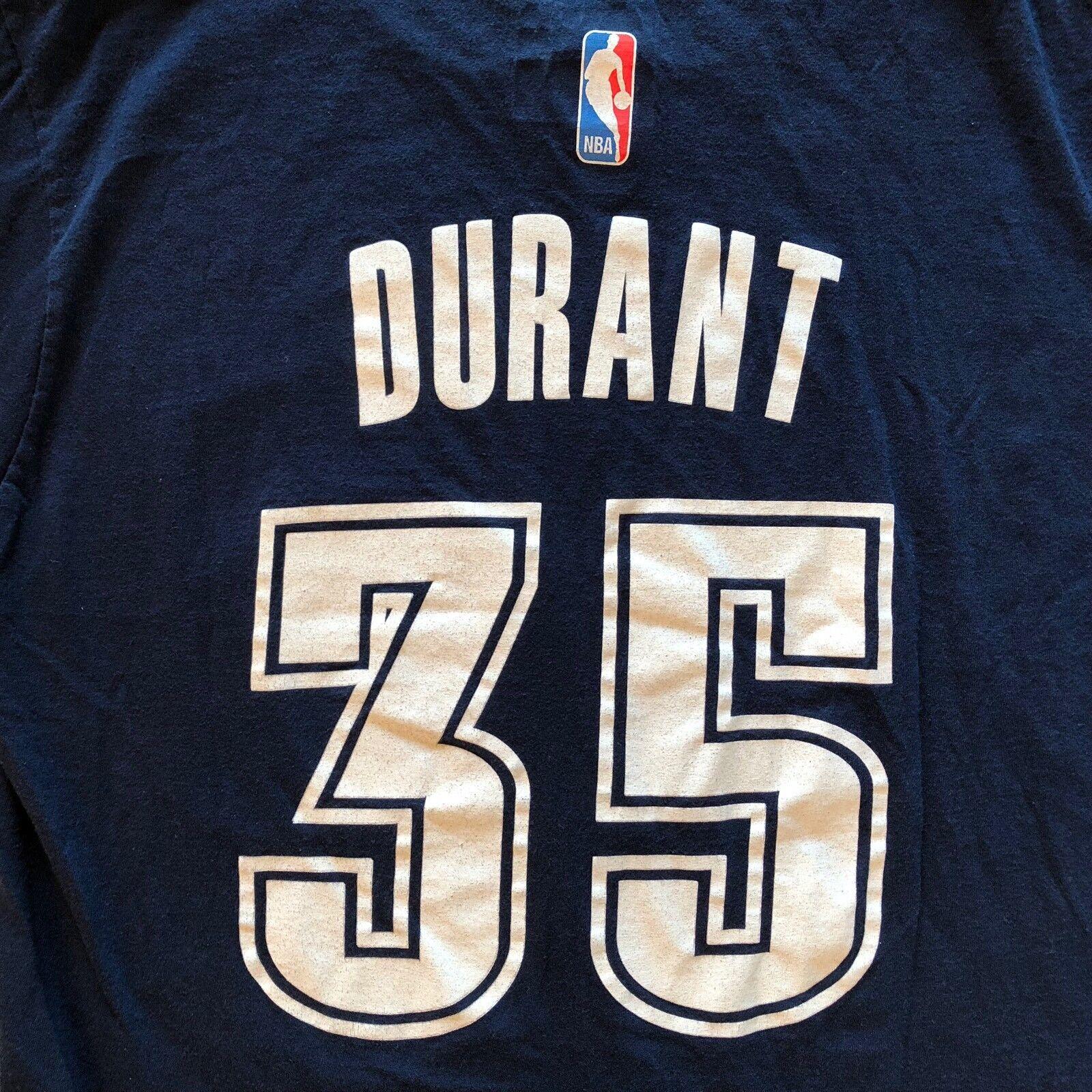 Adidas OK City Thunder 35 T-Shirt mit Kevin Durant Herren Medium Marineblau Zum T-Shirt