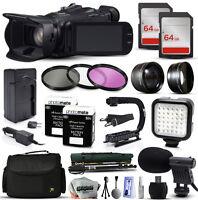 Canon Xa20 Hd Professional Camcorder Video Camera + 128gb Accessories Bundle