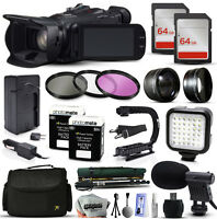 Canon Xa20 Hd Professional Camcorder Video Camera + 128gb Accessories Bundle
