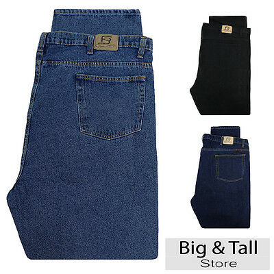 FOX JEANS Men/'s Carter Relaxed Fit Straight Blue Denim Jeans Size 32-44