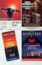 4 DIFFERENT SIMPLY RED MICK HUCKNALL FLYERS HOME BIG LOVE AMERICAN SOUL THETFORD