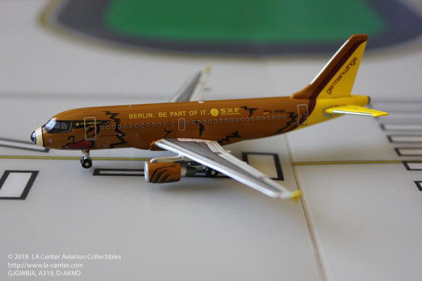 Gemini Jets Germanwings Airbus A319 Berlin Bear Bus Special color Model 1 400