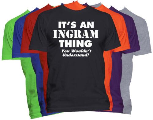 INGRAM Last Name T-Shirt Custom Name Shirt Family Reunion Tee S-5XL