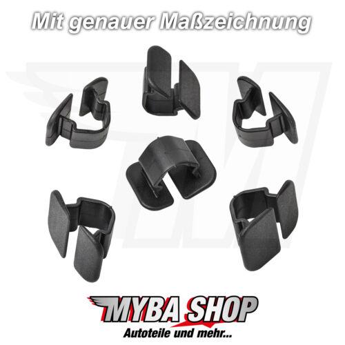 5x COFANO abdeckstopfen dämmmatte Clip VW AUDI SKODA SEAT 1h586384901c