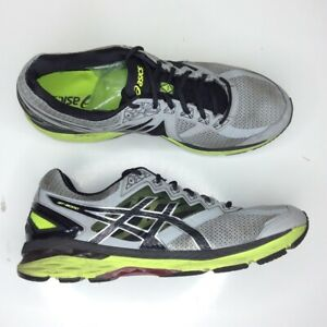 ASICS-Men-039-s-Gt-2000-T606n-Running-Athletic-Shoes-Black-Gray-Neon-Yellow-Size-15