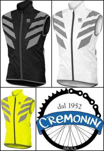 Gilet bici ciclismo Sportful antivento Reflex antipioggia smanicato visibilità