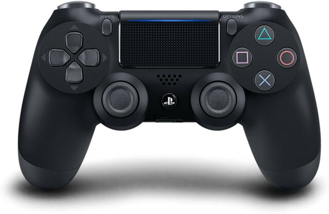 Sony PlayStation Dualshock 4 Wireless Controller - Jet Black (W/ Charging Cable)