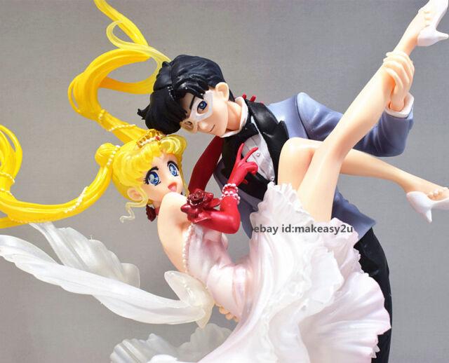 Figuarts Zero 25th Sailor Moon Usagi Tuxedo Mask Masquerade Ball Figure New