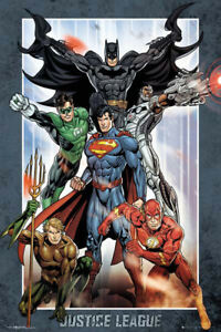 LAMINATED-JUSTICE-LEAGUE-GROUP-POSTER-61X91CM-PRINT-NEW-ART