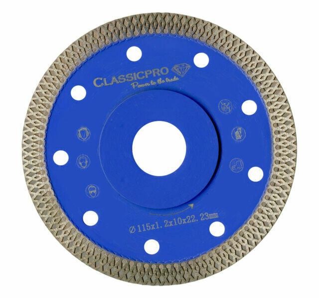 110mm Porcelain Tile Turbo Thin Diamond Dry Cut Blade Disc Wheel Angle Grinder