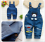 26-style-Kids-Baby-Boys-Girls-Overalls-Denim-Pants-Cartoon-Jeans-Casual-Jumpers thumbnail 35