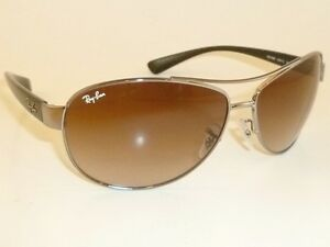 b8322f7894 New RAY BAN Sunglasses Gunmetal Frame RB 3386 004 13 Gradient Brown ...