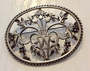 Beautiful-Vintage-Fully-Hallmarked-Solid-Silver-Art-Nouveau-Style-Type-Brooch