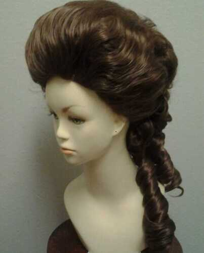 18th century marie antoinette duchess wig with custom color choices