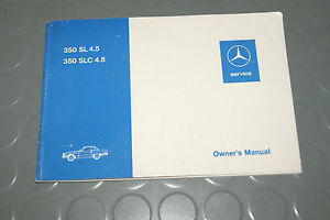 1982 mercedes benz slc sl 350 350sl sl350 4 5 class owners manual rh ebay co uk Mercedes 350SL 2005 mercedes benz slk 350 owners manual