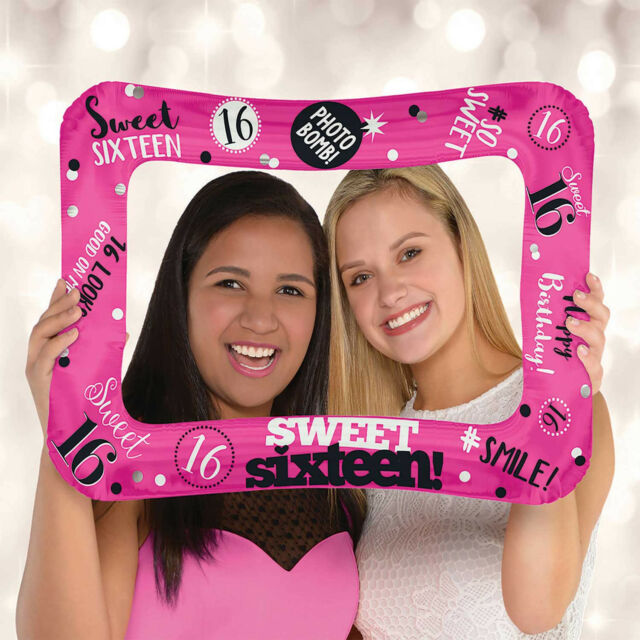 Sweet 16 Pink Inflatable Photo Frame 16th Birthday Party