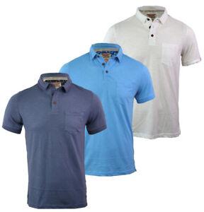 Mens-Tokyo-Laundry-Short-Sleeve-Plain-Button-Polo-Shirt-Top-Cotton-Casual-S-XL