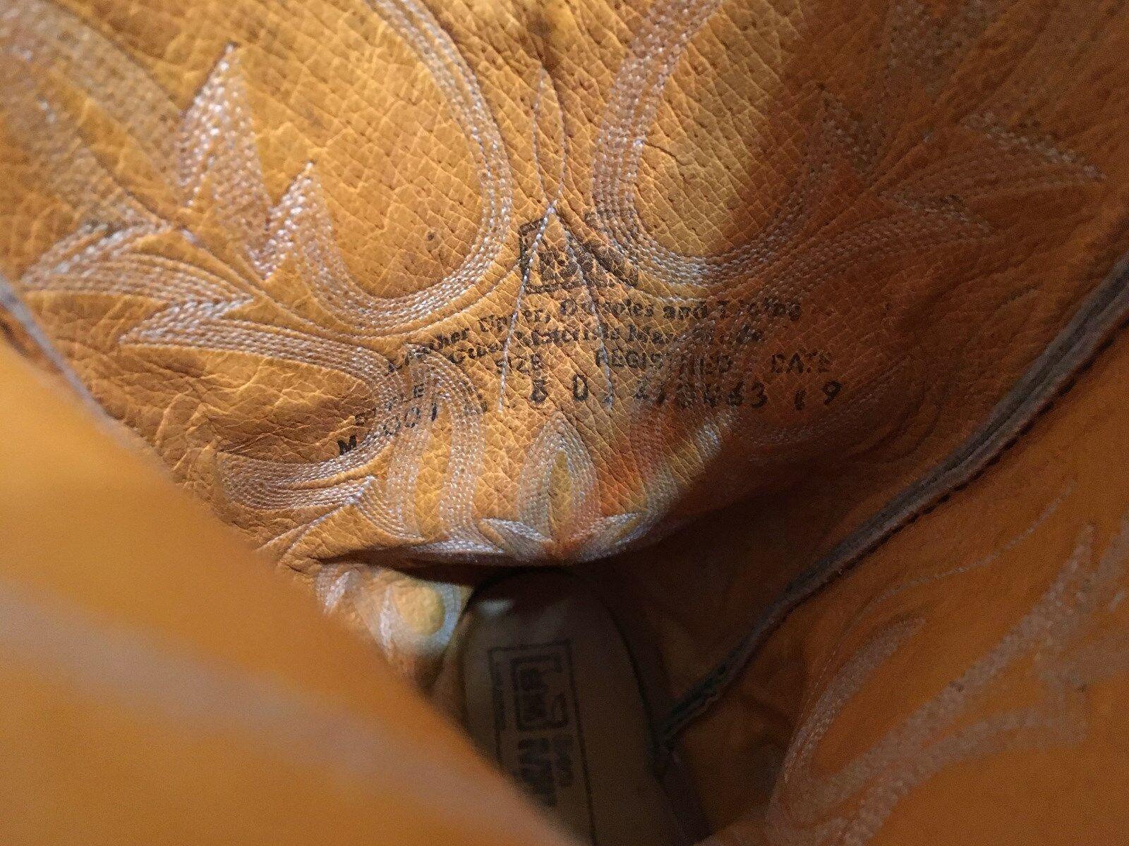 BM MILLER BROWN WESTERN BUCKAROO D HIGH Stiefel 8 D BUCKAROO 28164f