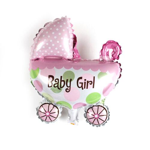 2 Kinder Geburtstag Folienballons Kinderwagen Helium Ballon für Party Dekoration