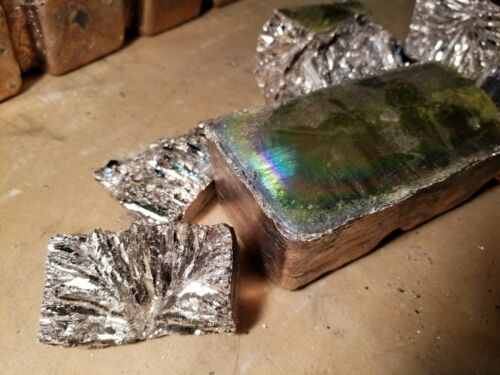 Bismuth metal 50 pounds of 99.99/% pure growing crystals fishing jig