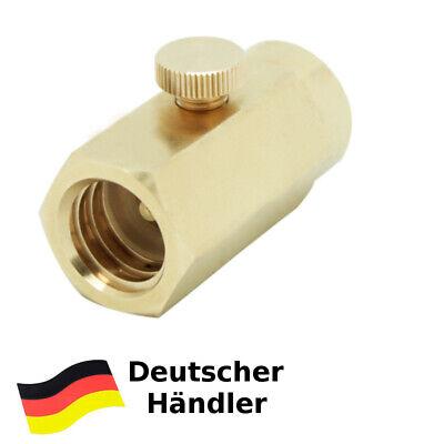 Fülladapter für Trinkwassersprudler Flaschen mit W 21,8 Co² Flaschen Kohlens.