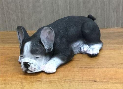 Harper Sleeping French Bulldog Statue Ornament Sculpture Home Decor 38x24cm