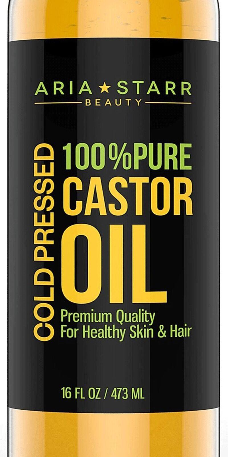 Castor Oil Cold Pressed - 16 FL OZ - BEST 100% Pure Hair Oil