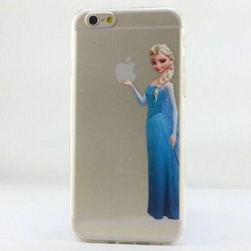 Semi Transparente Disney Elsa Snowwhite Ariel Sirena Funda dura todos iPhone
