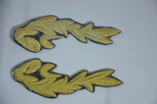 SEA CAPTAIN HAT GOLD LEAF LEAVES Embroidered Iron Sew On Patch Badge APPLIQUE  L