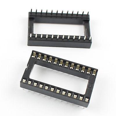 2pcs 40pin Pitch 2.54mm DIP IC Sockets Adaptor Solder Broad Type Socket