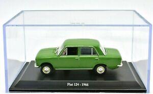 Fiat-Escala-1-43-124-Auto-Modelo-diecast-Coleccion-miniaturas-automodelismo