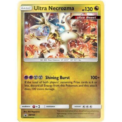 Pokemon ULTRA NECROZMA SM165 PROMO BLACK STAR HOLOFOIL NM CARD