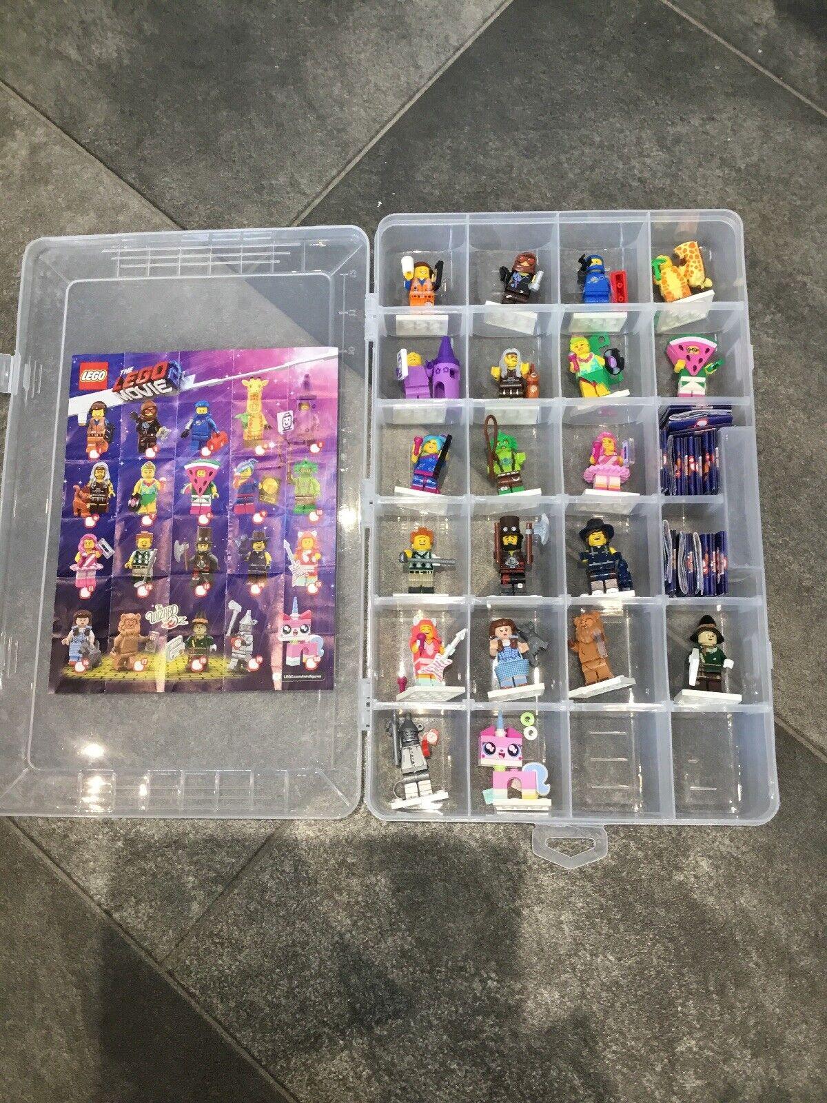 Las Minifiguras LEGO película 2 O71023-Completo Set Completo De 20 Indust Estuche Gratis