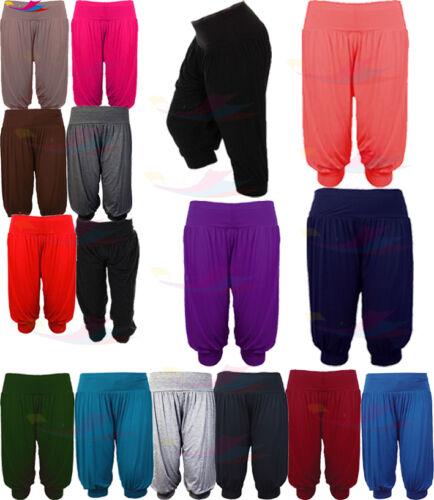 Womens ALI BABA 3//4 length lot Trouser Baggy Short Harem Pants Summer 8-26 Print