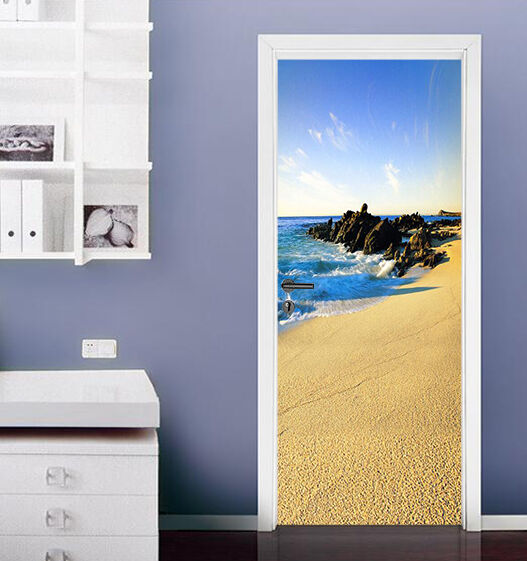 3D Strand 8 Tür Wandmalerei Wandaufkleber Aufkleber AJ WALLPAPER DE Kyra