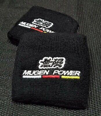 x2 Mugen Red Brake//Clutch Reservoir Tank Fireproof Sock Cover for Honda /& Acura