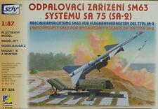 Startrampe SM 63 für Fla-Rakete Sa 75 (SA-2), HO, 1/87, SDV, Plastikbausatz, NEU