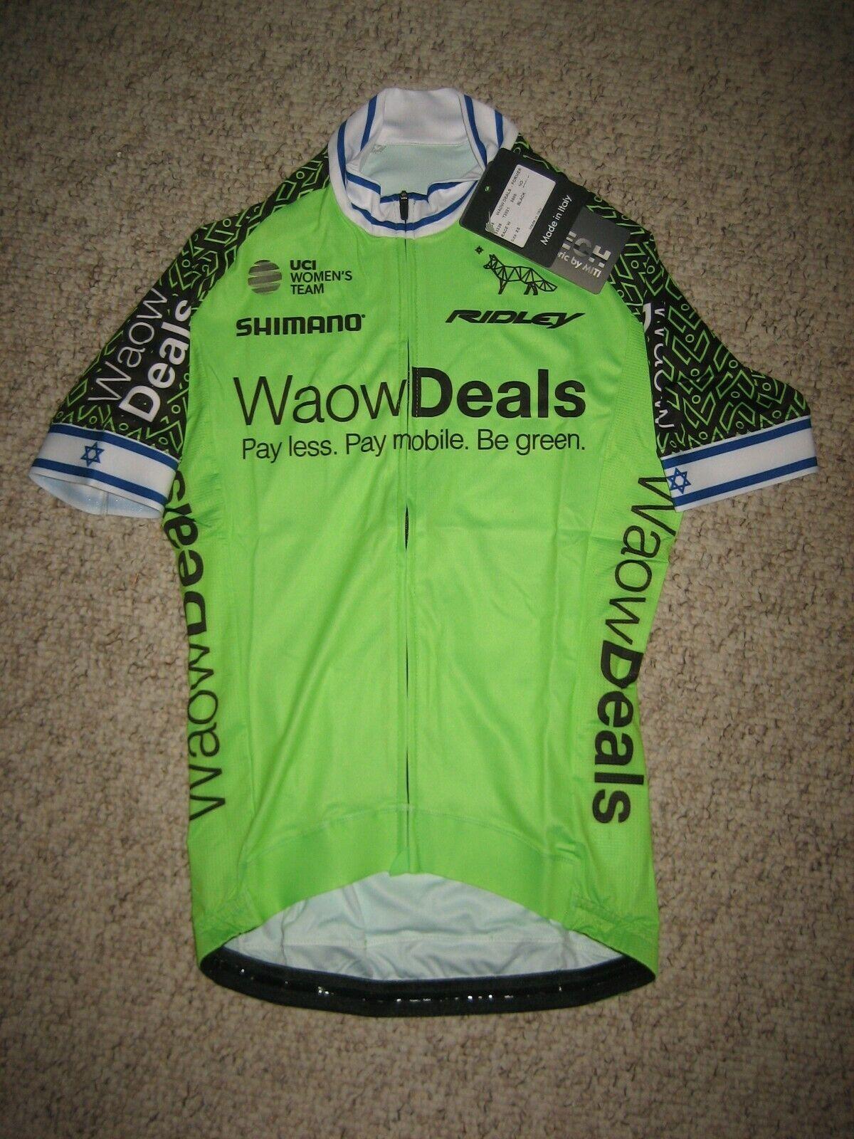 Waowdeals ISSUED Rotem GAFINOVITZ Israel cycling jersey shirt maillot damen XS
